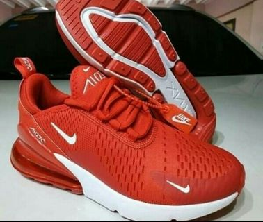 f20b71f64b Nike Air Max 270 Authentic Women RED Airmax Running Shoes Sneakers