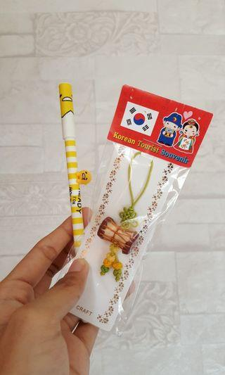 Bulpen Gudetama + Gantungan asli Korea Selatan