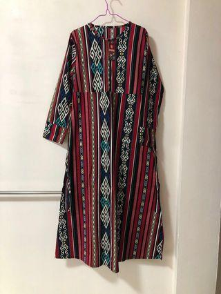 Batik Long sleeve Long dress