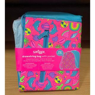 Shimmy Drawstring Bag (Pink) (Smiggle) (Authentic) (Brand New)