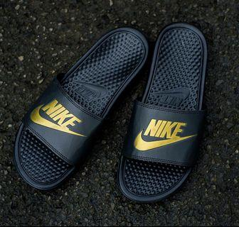 #Mauthr Nike Benassi Slide Black Gold