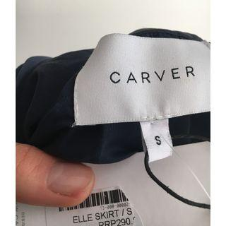 Carver Elle silk skirt blue 8, asymmetrical