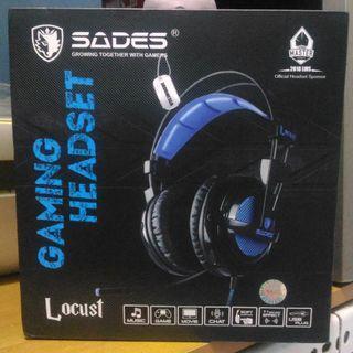 Headset Gaming Sades Locust SA-704