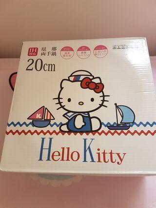 特價特價 Hello kitty pots雙耳鍋 2-3人用 電磁爐可用 全新 2013年