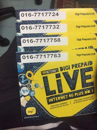 digi prepaid vip number