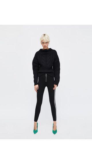 Zara Striped Leggings XS
