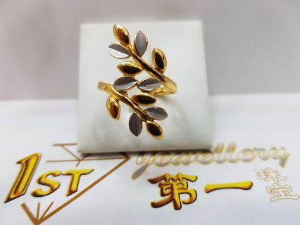 916 YELLOW GOLD TWO TONE RING