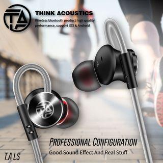 【New !】 官方授權正品-- T.A-LS 人體工學設計配戴 ,高清晰重低音耳機 絕佳音質 現貨 磁吸式 好收納 保固