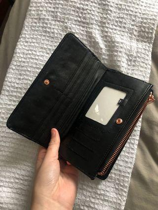 Black & rose gold Rusty wallet