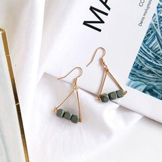 (Clip On/Hook) Vaner's Wooden Earrings In Grey