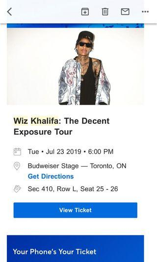 2 Wiz Khalifa Tickets