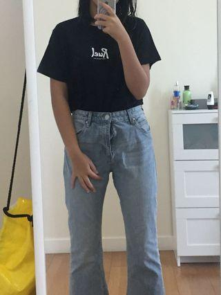 Blue mom jeans