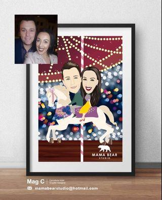 Super cute caricatures for your love ones