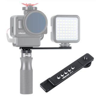 Ulanzi PT-7 Vlog Extension Mount Bracket with Cold Shoe 1/4 Screw for LED Video Light Microphone Gopro