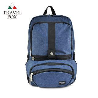 TRAVELFOX旅狐 簡約防撥水雙帶一體後背包/斜背