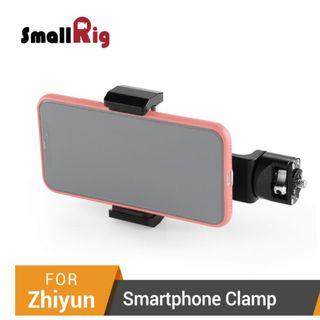 SmallRig Smartphone Clamp for Zhiyun Weebill LAB and Crane 3 Quick Release Adjustable Clamp Holder for Smartphone 2286