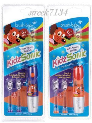 英國Brush-Baby兒童聲波電動牙刷(6歲以上)預購-紫羅蘭/熱情紅2色可選