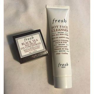 Fresh Soy Cleanser and Eye Concentrate minis