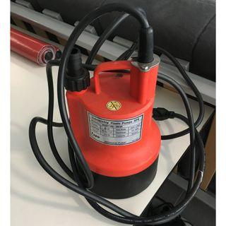 Bright Red Submersible Plastic Pump