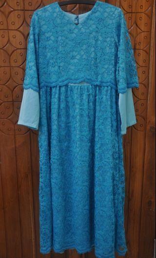 Dress biru / blue