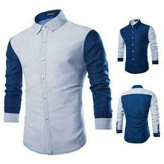 [2572] READY STOCK Men's Fashion Stylish Shirt Long Sleeve