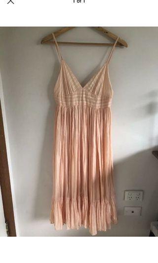 Country Road cotton salmon pink summer dress