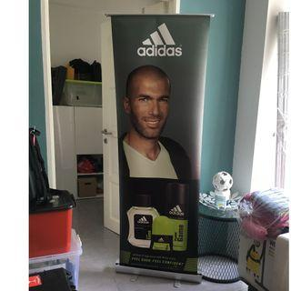 Adidas Fragrance Retractable Bunting with Aluminium Stand