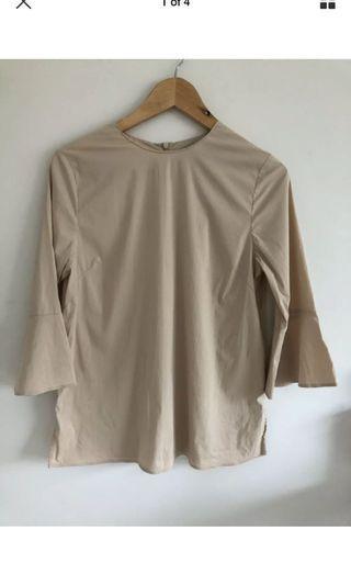 Zara woman cotton sateen ultra soft top