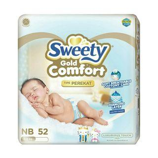Pampers sweety new born 52pcs