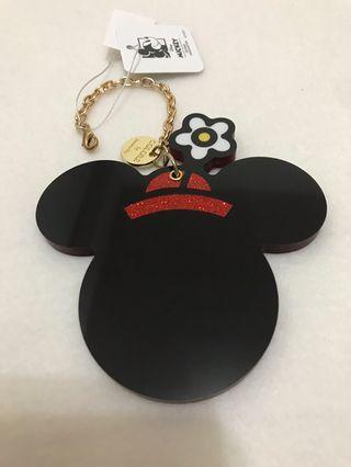🚚 日本購回 知名包包品牌&迪士尼合作 隨身鏡吊飾 米妮