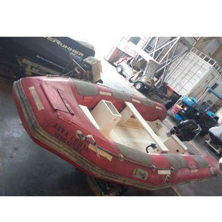 SOLAS Rescue Boat 4m Hypalon RHIB with 40hp 2 Stroke Outboard Engine 8000 SGD negotiable