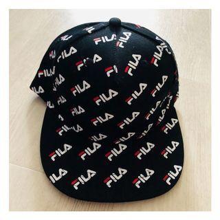 (READY STOCKS) Black fila unisex cap