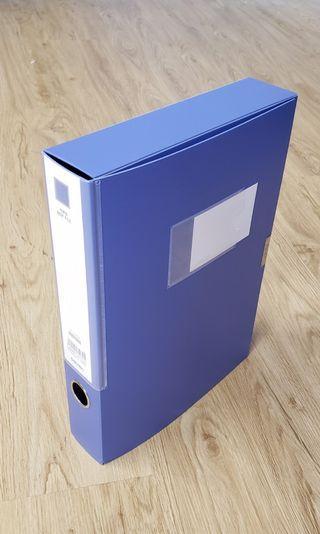 A4 10個裝 藍色 文件 收納盒 文具