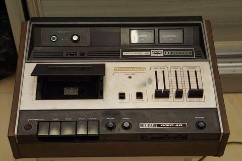 Vintage Working Akai GXC-46 Cassette Deck (See Description)