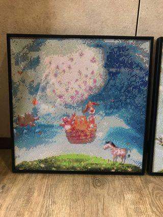 Ready made diamond art painting - Candy Hot Air Balloon