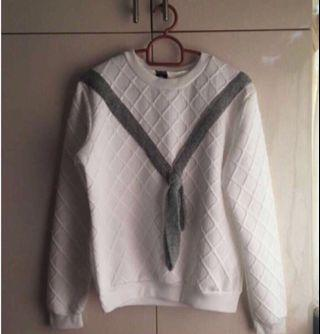 Long White Pullover