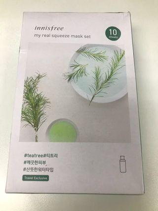 Innisfree Mask(tea tree) 10pcs