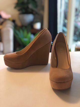 Rubi camel coloured wedge heels. Only worn twice.