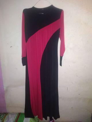 Dress merah hitam #mauthr
