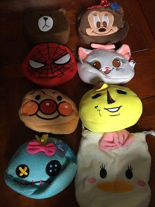Disney line friends brown 面包超人 Minnie daisy