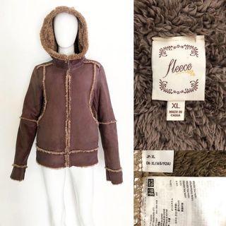 Uniqlo shearling fleece coat / jacket