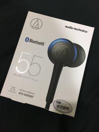 🚚 (近全新)鐵三角藍芽無線耳機ATH-CKR55BT(海藍色)