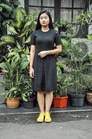 dress hitam simple - black dress #mauthr
