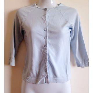 🚚 藍色七分袖小外套