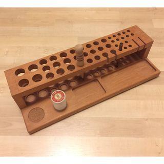 手工皮革工具專用實木工具架