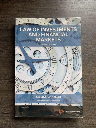 Law of investments and finance (RMIT)