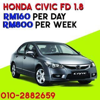 Honda Civic FD car rental Kereta sewa