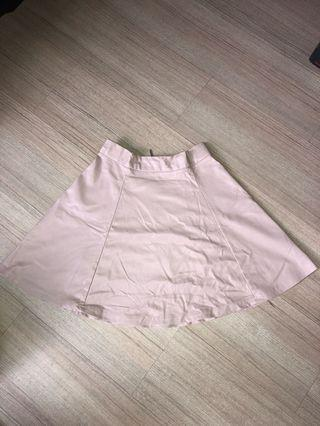 Pull & Bear Leather Pink Skirt