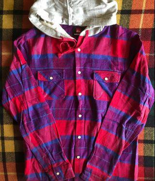 Flannel Quiksilver hoodie