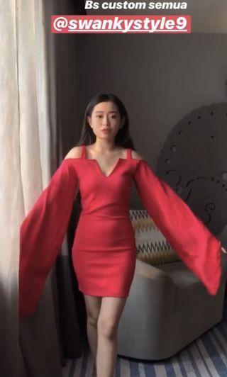 Swanky Dress ( warna fushia )